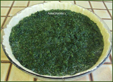 cuisine epinard quiche épinards et chèvre annagrammes cuisine