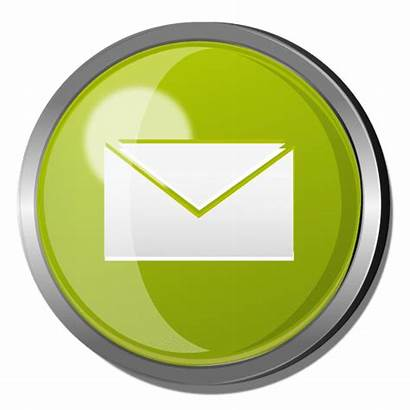 Email Button Round Metal Icon Transparent Business