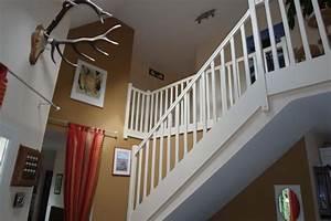 Hall d'entrée, cage escalier Peinture Frehel Deco Morbihan Loire Atlantique