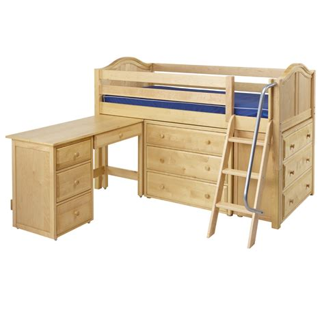 Low Loft Bed With Desk by Kicks Low Loft Bed With Dressers And Desk