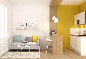 petite surface amenagement studio decoration lyon With beautiful comment faire des couleurs 17 une decoration en bois pour le mur