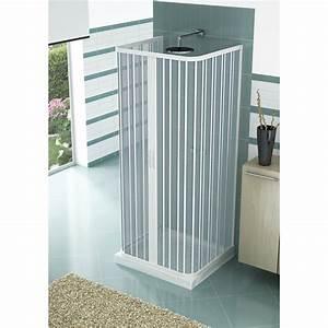 cabine de douche pliante en pvc a trois cotes a deux With porte d entrée pvc avec tabouret pliant salle de bain