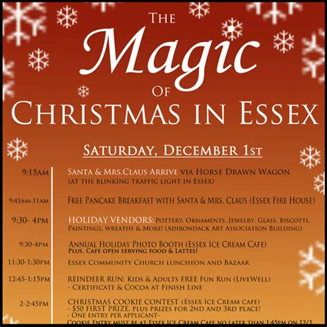 countdown to magic christmas in essex essex on lake