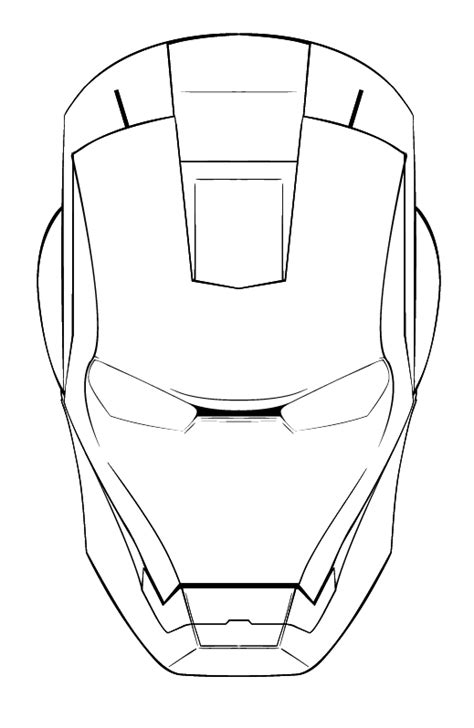 Ironman Mask Template by Iron Melty Mask On Behance