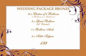 26 images of wedding picture packages template infovianet With wedding package names