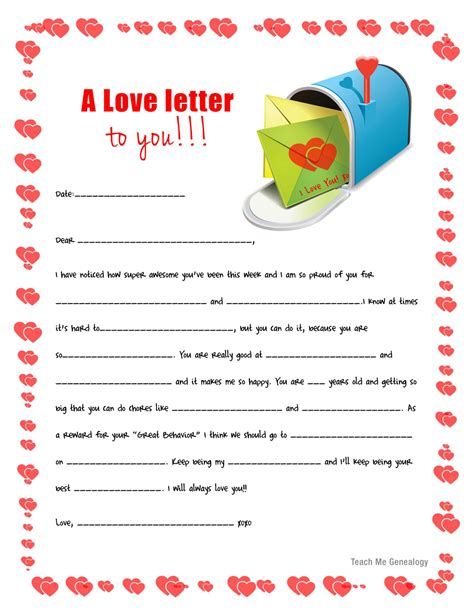 Back To School  Mailbox Loveletters For Your Kids Free