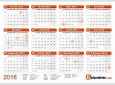 Imprimer calendrier 2016 gratuitement PDF, XLS et JPG