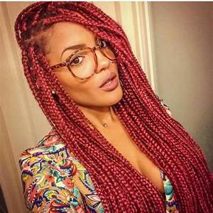 red box braids, black girl, afro hair, hairstyle, black ...