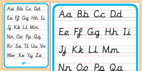 Free!  Cursive Alphabet Letter Formation Poster Upper And Lower Case