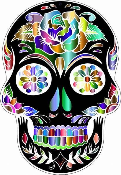Skull Dead Transparent Sugar Skulls Silhouette Clipart