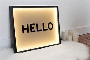 Tableau Lumineux Message : tableau lumineux diy ann es 50 ~ Teatrodelosmanantiales.com Idées de Décoration