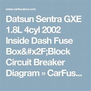 2002 Nissan Sentra Gxe Fuse Box Diagram