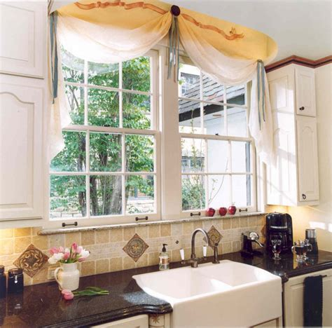 Contemporary Kitchen Curtains Tie Up  Looks Spectacular