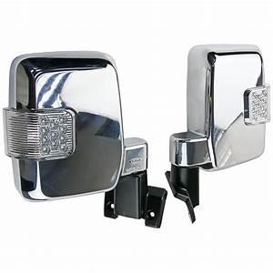 New 1 Set Chrome Side Mirror W   Led For Landcruiser 70 75
