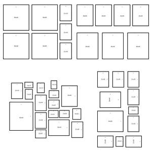 Wall Templates For Hanging Pictures by Ikea Matteby Set Of 4 Wall Collage Templates For Hanging