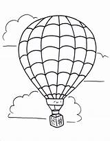 Balloon Air Coloring Pages Drawing Printable Freelargeimages sketch template