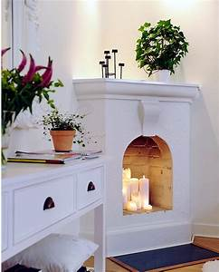 Decorate the unused fireplace in the living room – 20