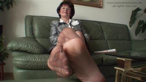 Auntys Smelly Nylon Feet In My Face Thumbzilla
