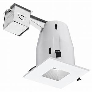 Lithonia lighting in matte white recessed square lamped