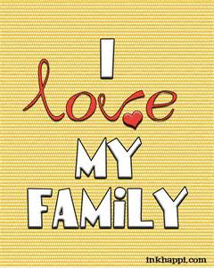 Free Printable Love and Family