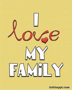Family & Love Free printables and great framed gift idea