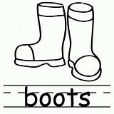 Boots Coloring Rain Clipart Clip Snow Library sketch template