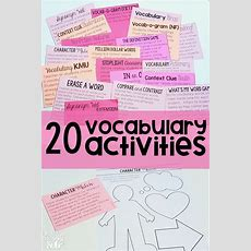 Are You Looking To Spice Up Your Vocabulary Instruction? These Vocabulary Activities Are Perfect