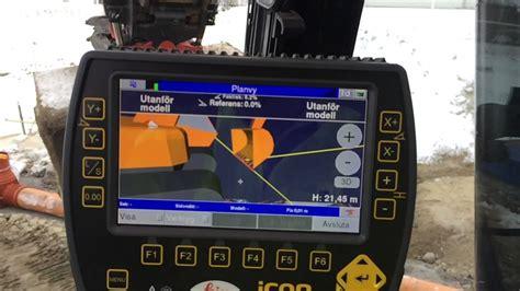 leica geosystems icon   machine control  excavators supporting tilt rotator