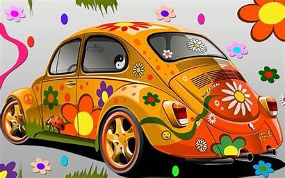 Flower Power Beetle Volkswagen Vw Bug Hippie