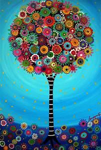 Art De Vie : mexican folk art tree of life bar bat mitzvah painting print ~ Zukunftsfamilie.com Idées de Décoration