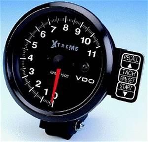 Vdo  U0026quot Extreme U0026quot  11000 Rpm Recording Tachometer  Black Face