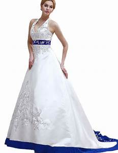Online Get Cheap Strapless Wedding Dress Blue And White