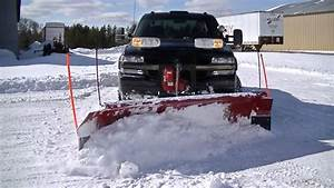 Plowing Deep Drifted Snow With 1 Ton Chevy Silverado