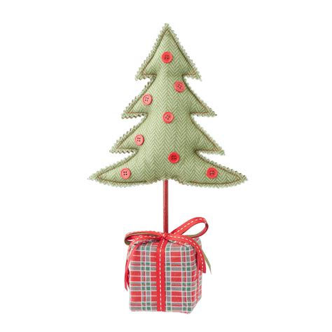 fabric table top christmas tree by the christmas home
