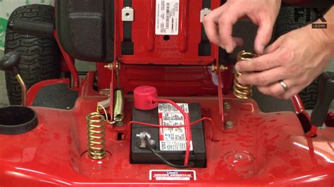 troy bilt lawn tractor repair   replace  seat