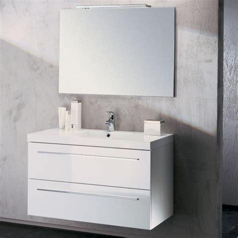 meuble vasque salle de bain sanijura horizon laqu 233 blanc