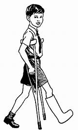 Crutches Clipart Cliparts Injuries Clip Bill Boy Library Polian Pissed Stampede sketch template