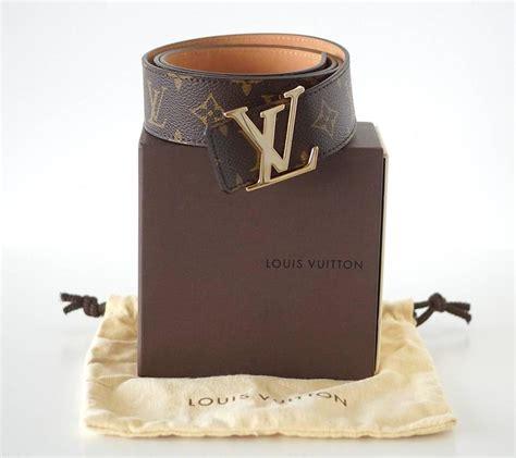 louis vuitton belt san tulle monogram cm  gold lv buckle  box  stdibs