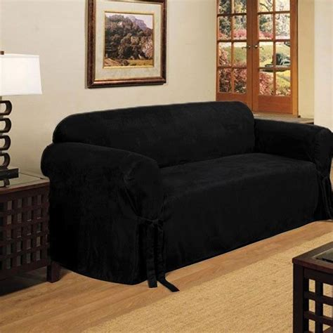 Black Loveseat Cover by 2 Micro Suede Black Soft Loveseat Sofa Cover Pad
