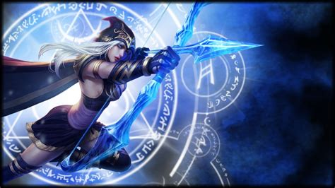 Anime League Of Legends Wallpaper - bows anime hair bows ashe league of legends wallpapers