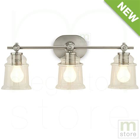Brushed Nickel Bathroom Light Fixtures by Bathroom Vanity 3 Light Fixture Brushed Nickel Bell Wall