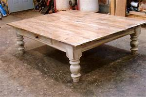pine farmhouse coffee table With large farmhouse coffee table