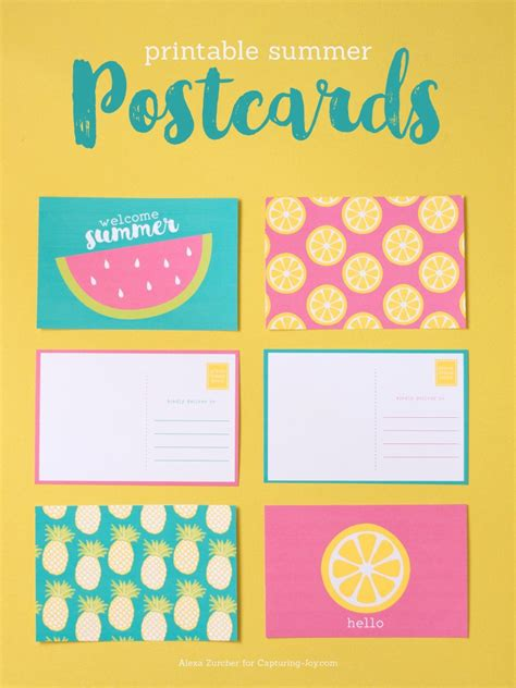 printable summer postcards capturing joy  kristen duke