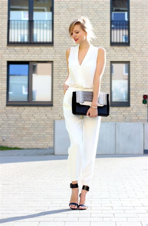 formal white jumpsuit timeless fashion trend white jumpsuits 2018