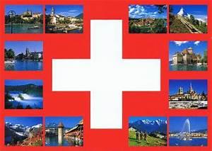 Postkarte In Die Schweiz : schweiz postkarten mit schweizer kreuz und 12 sehensw rdigkeiten ~ Yasmunasinghe.com Haus und Dekorationen