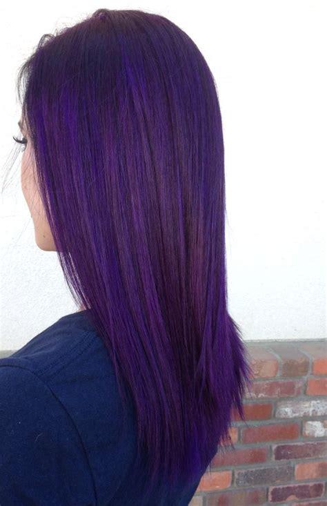 Dye Hair by Purple Hair Pravana Violet Personal Work In 2019