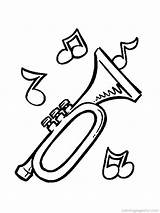 Instruments Musical Coloring Pages Printable Jazz Music sketch template