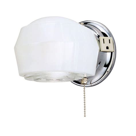Light Fixture With Outlet by Westinghouse 1 Light Chrome Interior Wall Fixture 6640200