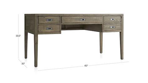 crate and barrel rex grey desk l morris 60 quot ash grey desk crate and barrel