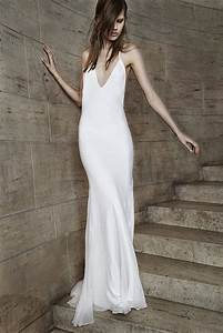 simple slip wedding gown from vera wang onewedcom With slip wedding dresses